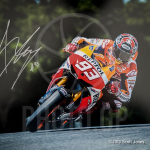 Marc Marquez in flight at Laguna Seca 2013