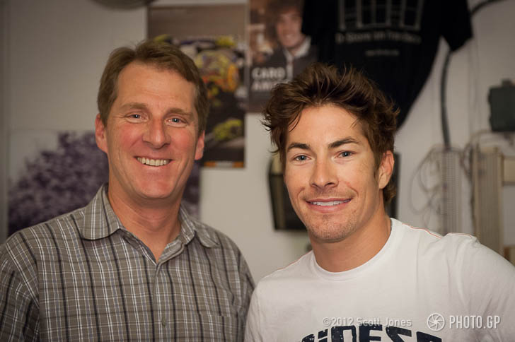 Scott with MotoGP 2006 World Champion, Nicky Hayden