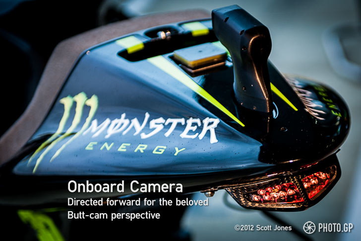 MotoGP onboard video camera front facing