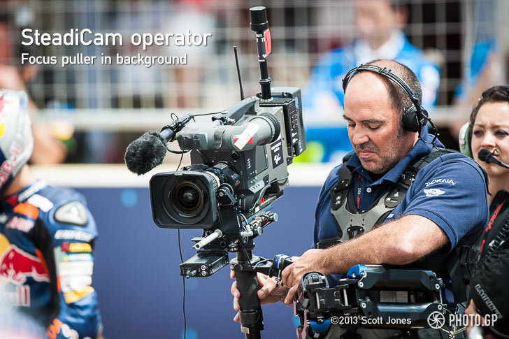 Steadicam operator and focus puller on grid Austin CotA