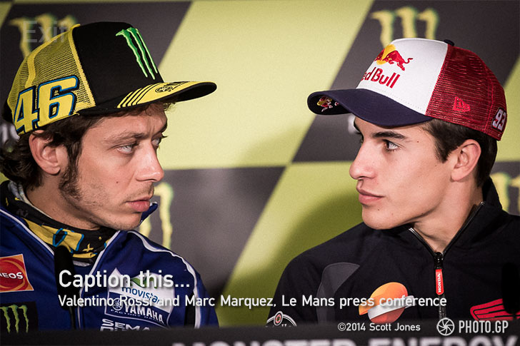 Valentino Rossi Marc Marquez press conference Le Mans French GP