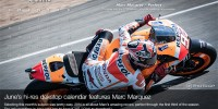 June 2014 Desktop Calendar Marc Marquez