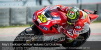 May 2014 Desktop Calendar Cal Crutchlow