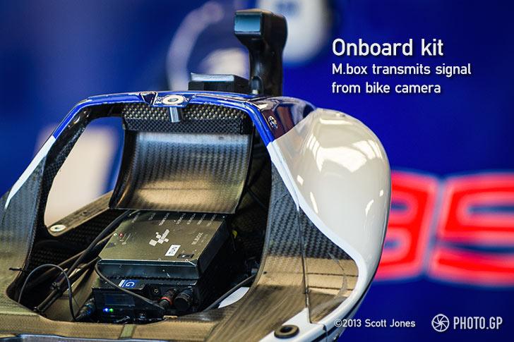 Dorna MotoGP onboard TV box and camera