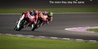 Andrea Dovizioso and Cal Crutchlow at Losail 2014