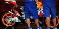 Repsol Honda Yamaha pit lane