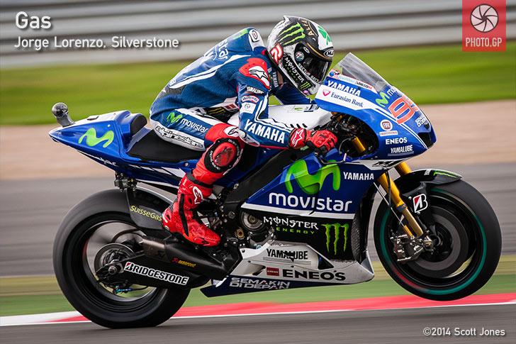 Jorge Lorenzo full gas Silverstone 2014