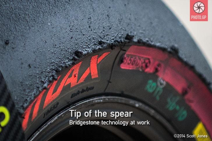 Bridgestone Battlax MotoGP rear tire