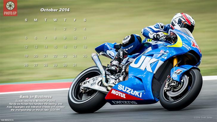 PHOTOGP October 2014 Calendar Suzuki MotoGP