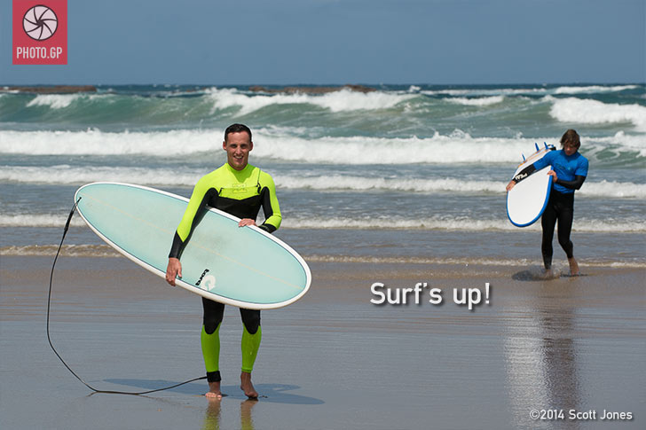 Pol Espargaro surfing at Phillip Island
