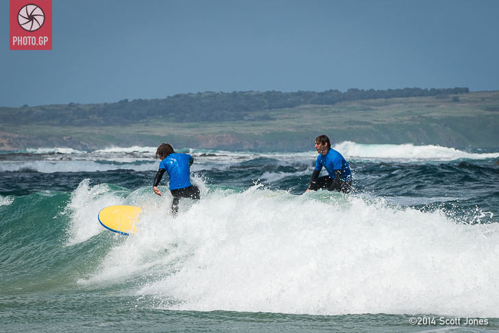 Remy Gardner and Ant West surf at Phillip Island