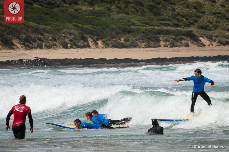 Ricky Cardus and MotoGP riders surfing