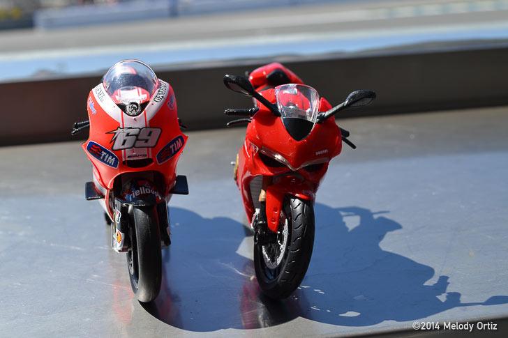 Ducati plastic models Laguna Seca Melody Ortiz