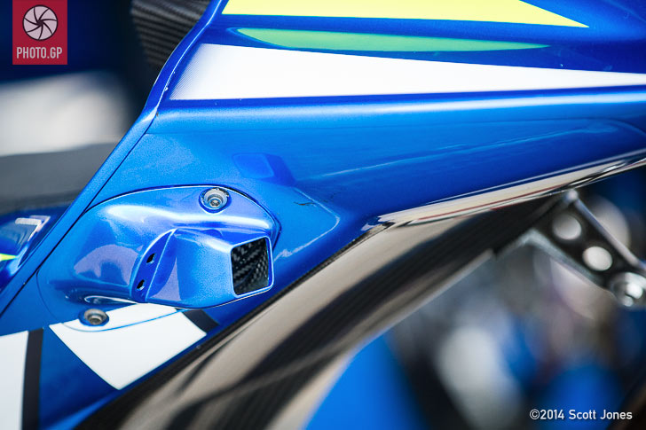 Suzuki MotoGP rear view camera
