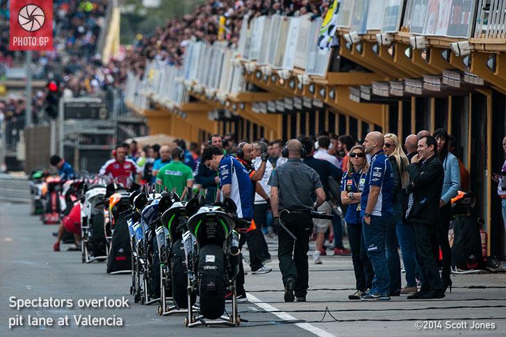 MotoGP Valencia pit lane 2014