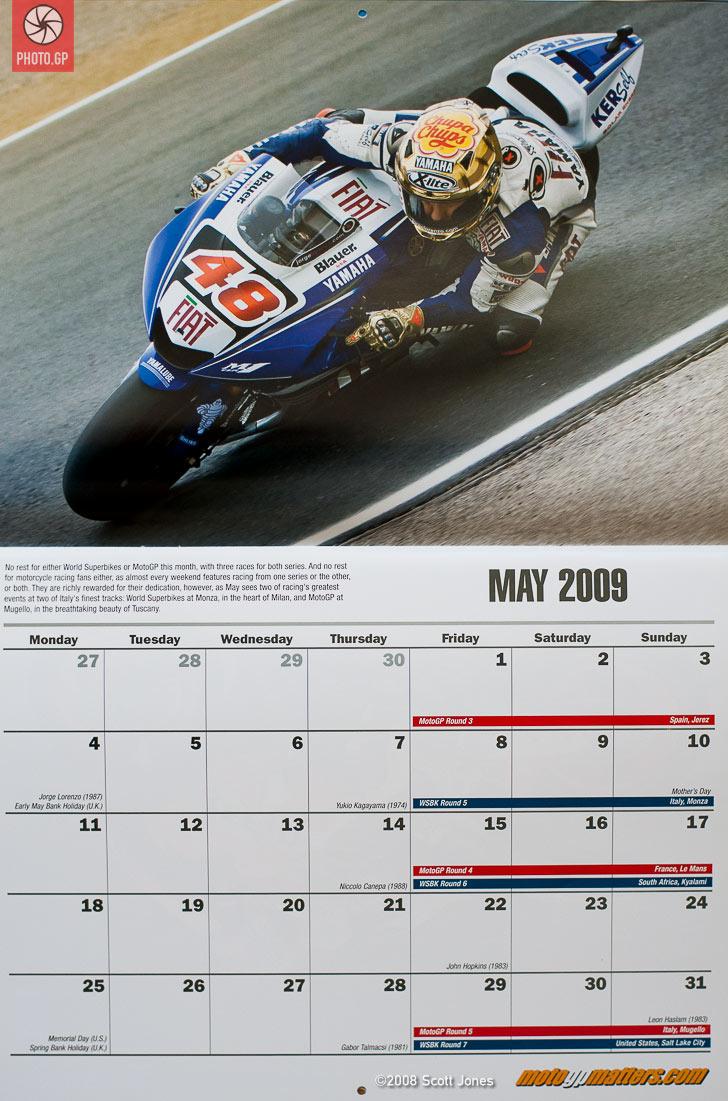 2009 motomatters calendar