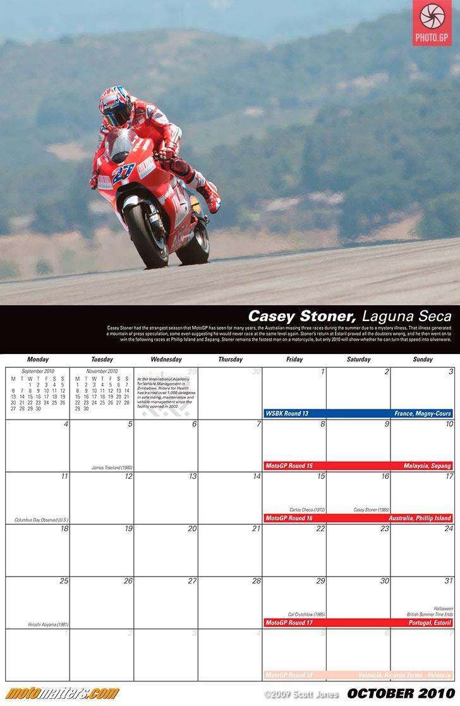 Racing Calendar May : Calendar