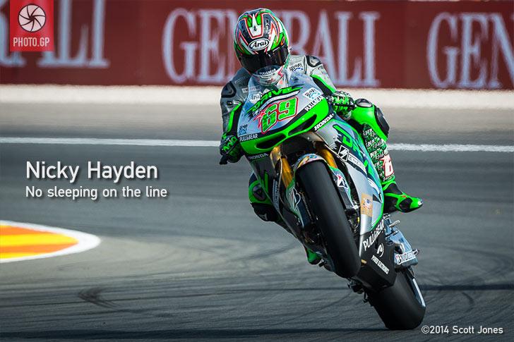 Nicky Hayden Valencia wheelie Aspar Honda