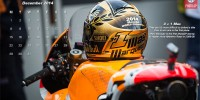The 3+1 24k gold leaf Shoei Marc Marquez Helmet