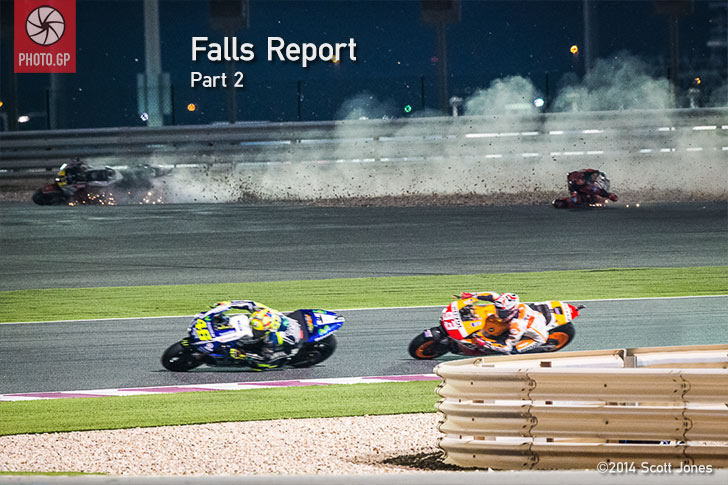 Stefan Bradl crash Losail 2014