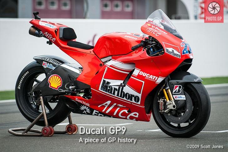 Ducati GP9 at Losail Qatar Casey Stoner Marlboro
