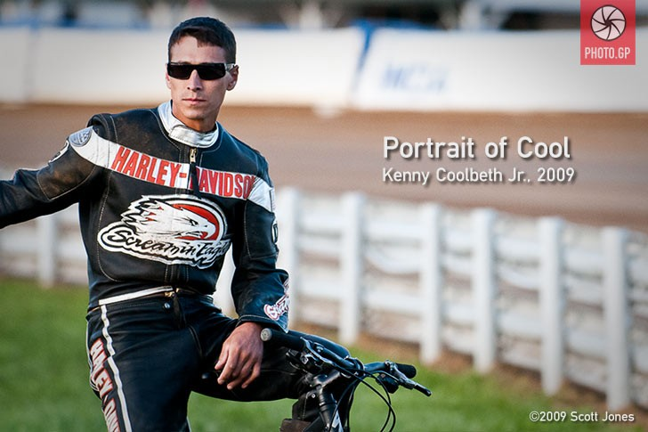 Kenny Coolbeth Jr. at the Indy Mile flat track
