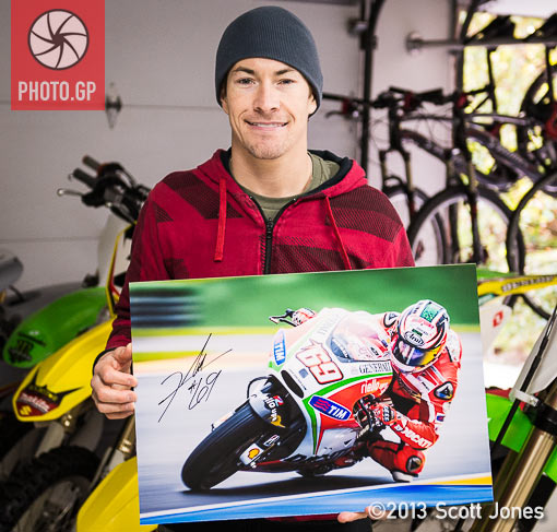 Nicky Hayden determined signed proof
