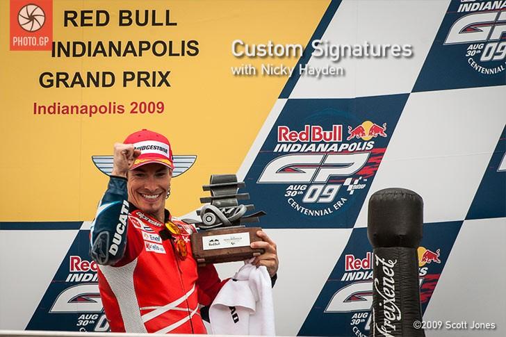 Nicky Hayden podium IMS 2009