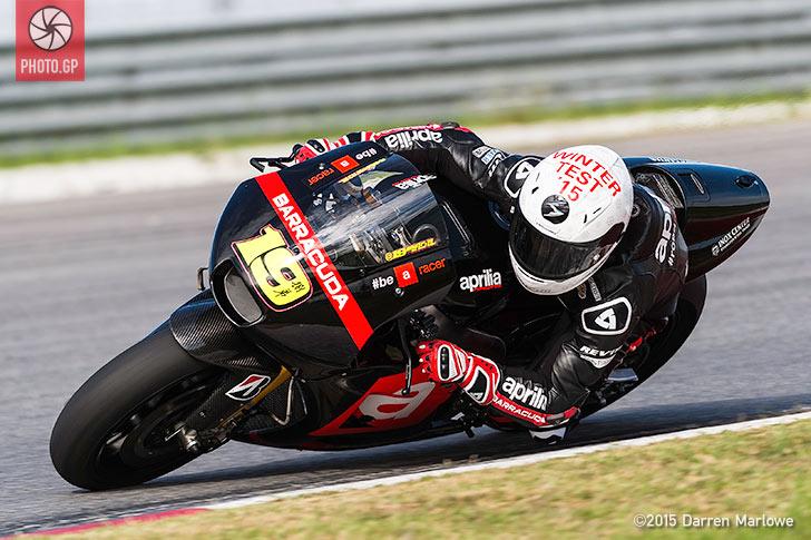 Alvaro Bautista Aprilia MotoGP Sepang Test 2015 Darren Marlowe