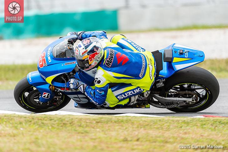 Maverick Vinales Suzuki MotoGP Sepang Test 2015 Darren Marlowe