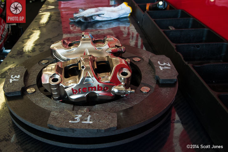 Team Pramac Ducati Brembo brake set