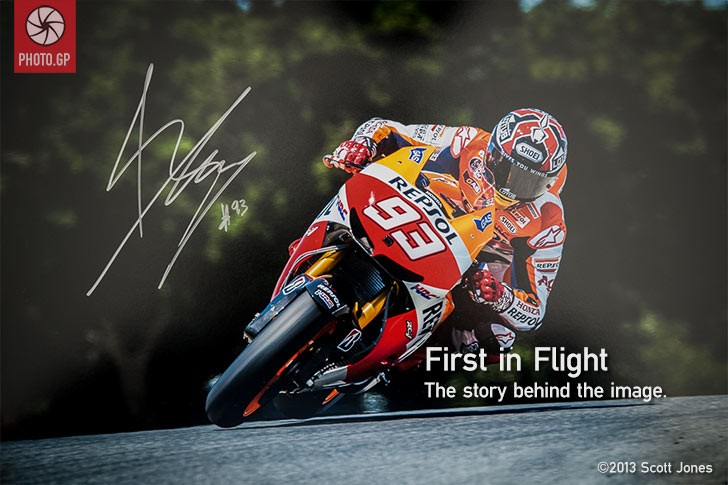 Marc Marquez first in flight limited edition Laguna Seca
