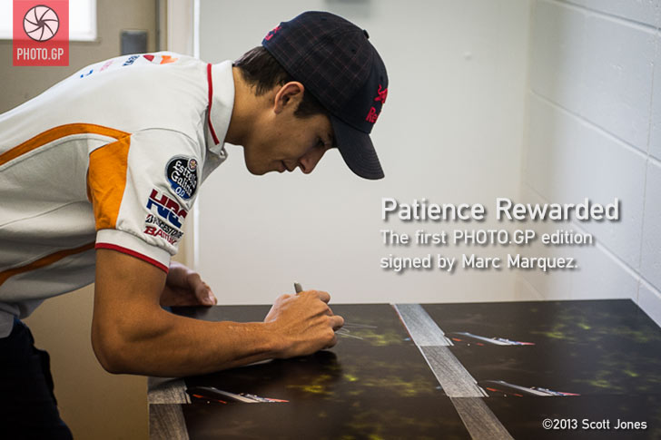 Marc Marquez signing First in Flight