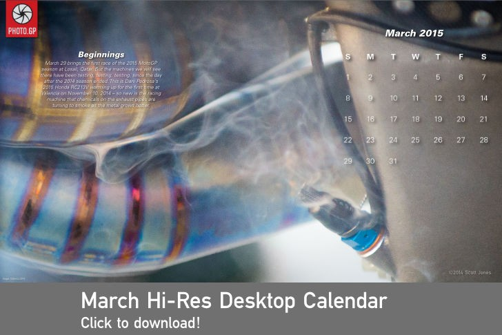 March 2015 desktop calendar Honda RC213V