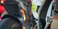 Ducati GP15 on fire