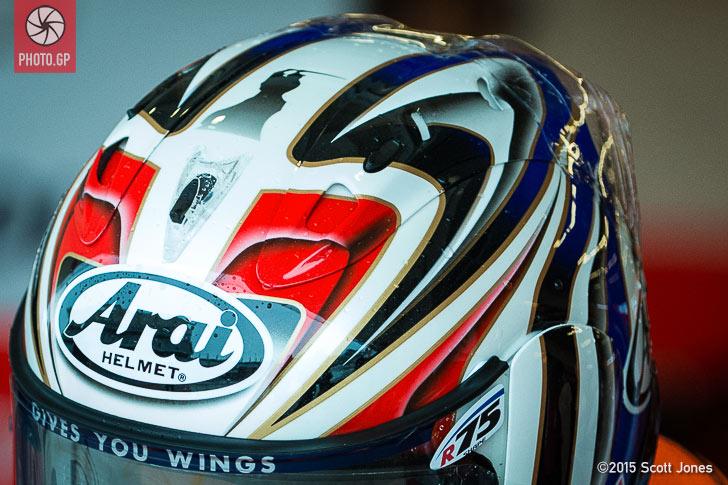 Hiroshi Aoyama Arai helmet