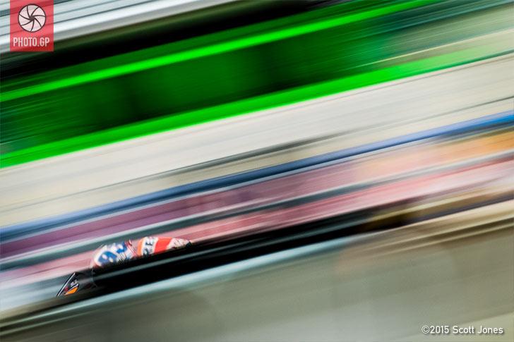 Marc Marquez pit lane blur