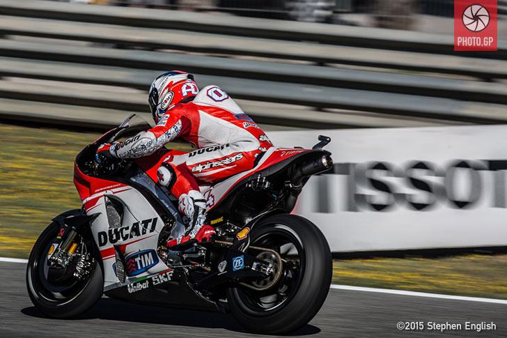 Andrea Dovizioso Ducati Jerez 2015 Stephen English