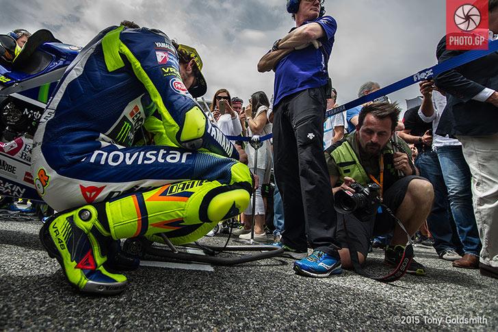 Valentino Rossi grid Jerez 2015 Tony Goldsmith
