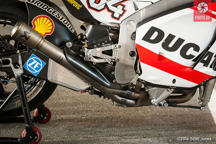 Ducati GP14 exhaust lower