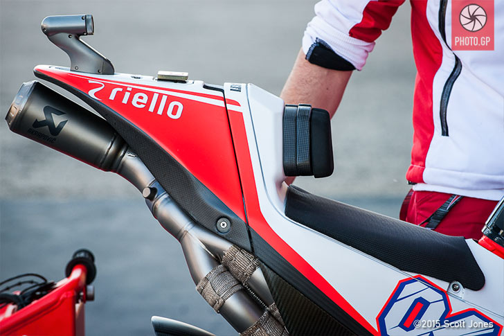 Ducati GP15 exhaust