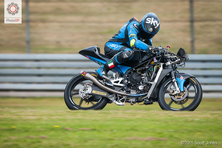Andrea Migno Assen 2015 crash no fairing