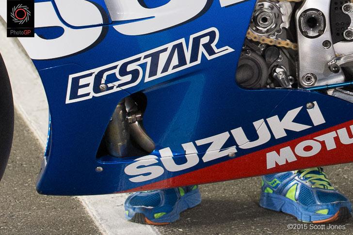 Suzuki GSX-RR Exhaust Losail 2015 vent