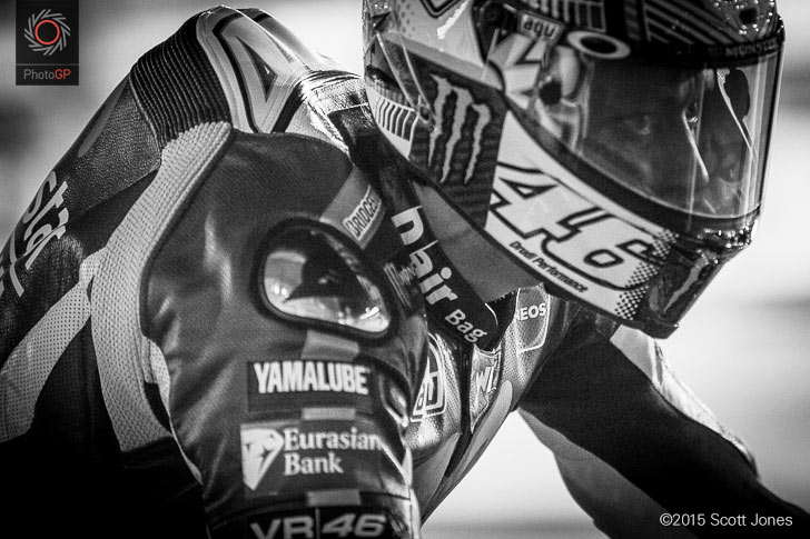 Valentino Rossi Losail pit lane 2015