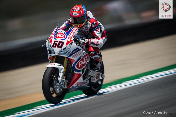 Michael van der Mark Honda WSBK 2015 Laguna Seca