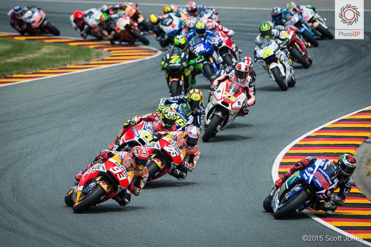 Sachsenring 2015 lap 1 MotoGP