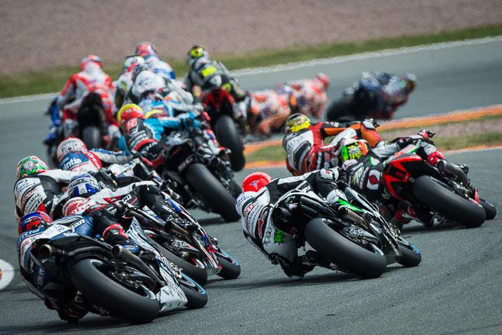 Sachsenring 2015 lap 1 rear view