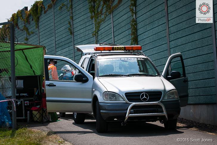 Sachsenring-2015-service-road-blocked