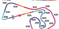 Sachsenring telemetry track map