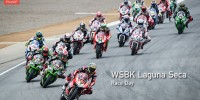 WSBK Laguna Seca Race 1 start Chaz Davies a